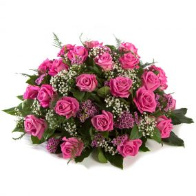 Roze rozen Biedermeier